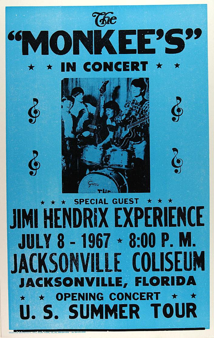 Jimi Hendrix's first U.S. tour; he was removed from the bill after a few dates (Photo: GAB Archive/Redferns)