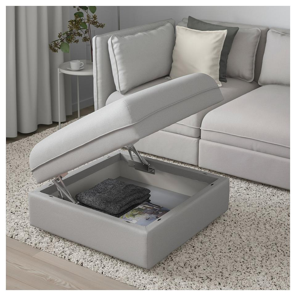 "<p>This <a href=""https://www.popsugar.com/buy/Storage-Seat-Section-403890?p_name=Storage%20Seat%20Section&retailer=ikea.com&pid=403890&price=185&evar1=moms%3Aus&evar9=45707786&evar98=https%3A%2F%2Fwww.popsugar.com%2Ffamily%2Fphoto-gallery%2F45707786%2Fimage%2F45707820%2FStorage-Seat-Section&list1=shopping%2Cikea%2Corganization%2Cfamily%20home%2Cikea%20hacks&prop13=mobile&pdata=1"" rel=""nofollow"" data-shoppable-link=""1"" target=""_blank"" class=""ga-track"" data-ga-category=""Related"" data-ga-label=""https://www.ikea.com/us/en/catalog/products/S29149604/"" data-ga-action=""In-Line Links"">Storage Seat Section</a> ($185) is beautifully designed and perfectly functional.</p>"