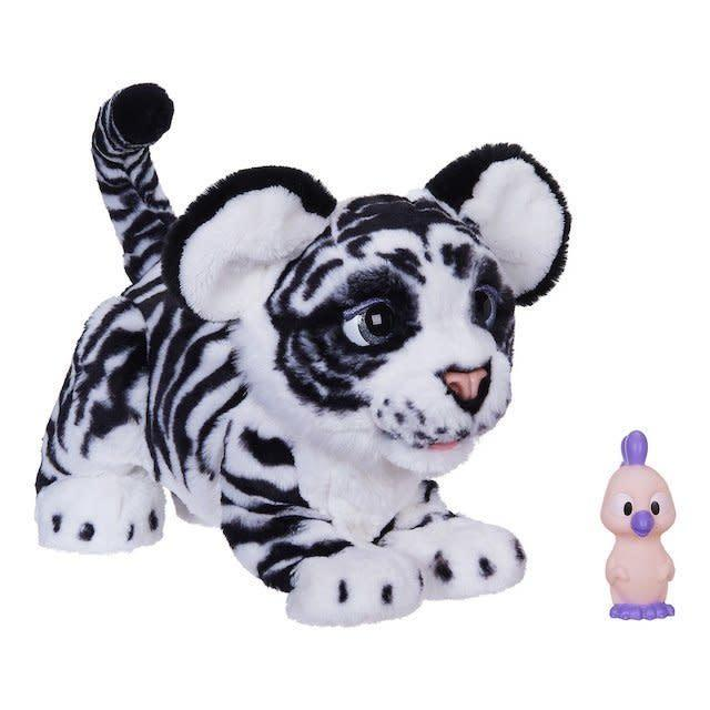 This furry friend, known as<span>the FurReal Roarin' Ivory The Playful Tiger Pet</span>, is one of Toys R Us' choices for toys to pick up this holiday season. (Toys R Us)