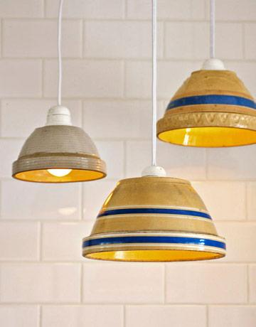 """<div class=""""caption-credit""""> Photo by: Dane Holwager</div><div class=""""caption-title"""">Brilliant Bowl Lampshapdes</div>Instead of buying expensive lampshades, make your own by using large bowls. What a bright idea! <br> <br> <a href=""""http://www.countryliving.com/crafts/projects/green-crafts-0309#slide-20?link=emb&dom=yah_life&src=syn&con=blog_countryliving&mag=clg"""" target=""""_blank"""">Get the complete how-to »</a> <br> <b><br> Plus: <br> <a href=""""http://www.countryliving.com/crafts/organization-crafts-0109?link=rel&dom=yah_life&src=syn&con=blog_countryliving&mag=clg"""" target=""""_blank"""">16 Craft Projects to Help Organization »</a> <br> <a href=""""http://www.countryliving.com/homes/decor-ideas/living-room-gallery?link=rel&dom=yah_life&src=syn&con=blog_countryliving&mag=clg"""" target=""""_blank"""">82 Living Rooms You'll Love »</a></b>"""