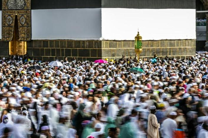 Muslims around the world pray towards the Kaaba, which is located in the Grand Mosque (AFP Photo/Abdel Ghani BASHIR)