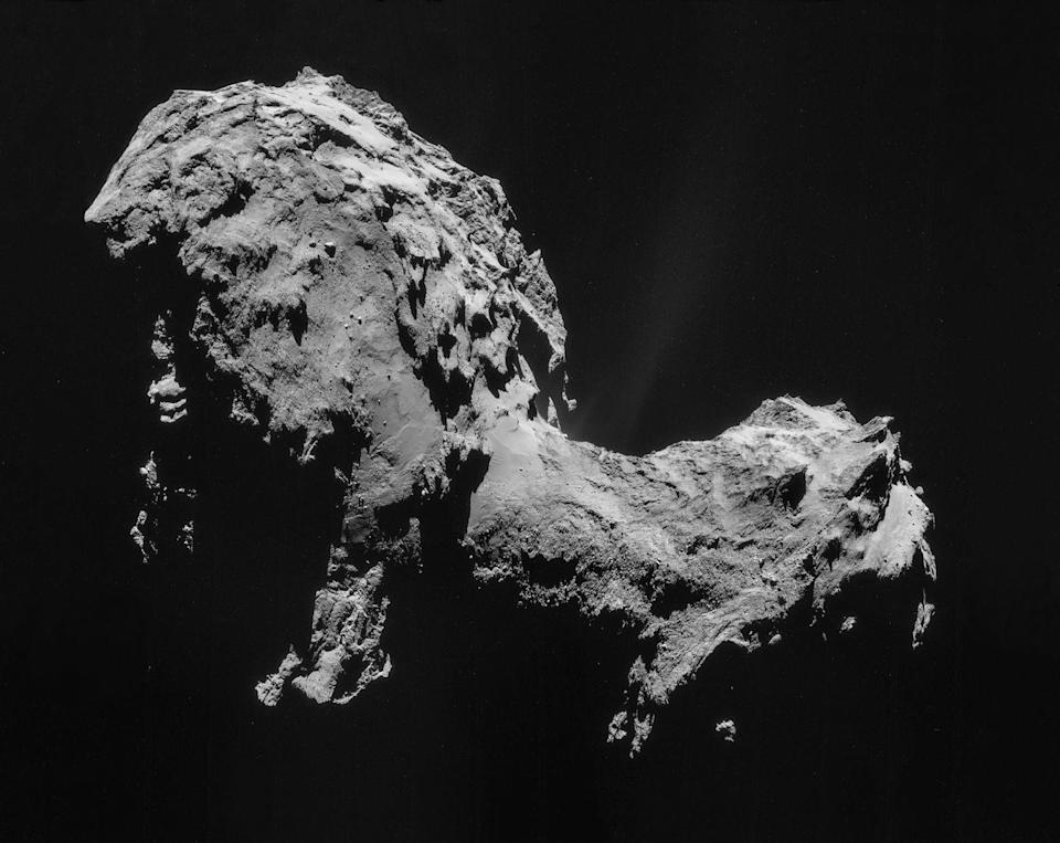 <p>Okay, okay, okay. It's not an asteroid, but we think the comet 67P/Churyumov–Gerasimenko deserves a spot on the list. </p><p>The European Space Agency's Rosetta spacecraft visited the comet in Aug., 2014, after a 10-year journey from Earth. For nearly a year, the spacecraft circled the comet, snapping stunning pictures of its gnarled, rocky surface. Rosetta discovered bouncing boulders and, among other wonders, the chemical building blocks of life. </p><p>In November 2014, Rosetta deployed the Philae lander, but it bounced into a shadow and eventually lost power, wakening only once, briefly almost a year later. At the end of its mission on Sept. 30, 2016, the spacecraft plunged into the duck-shaped comet.</p>