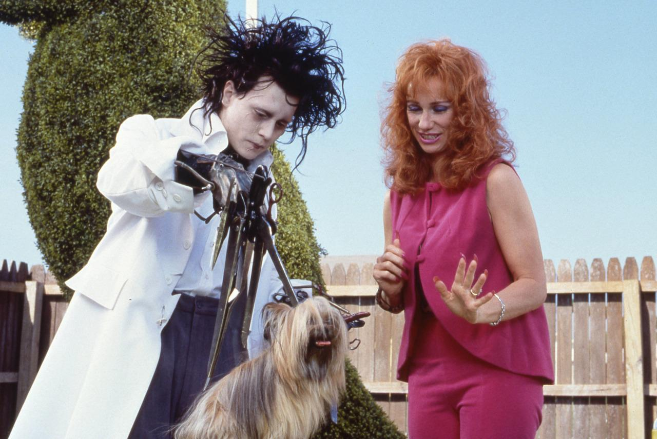 """<p>Thompson politely declined to share exactly which scenes were shot before Johnny Depp began channeling her dog, only saying that she """"can totally see the difference"""" when she watches the film. Incidentally, the dog that Edward is based on was a border collie mix Thompson had in early adulthood. """"I swear to god, if she'd had a larynx she would have talked."""" <br /></p>"""