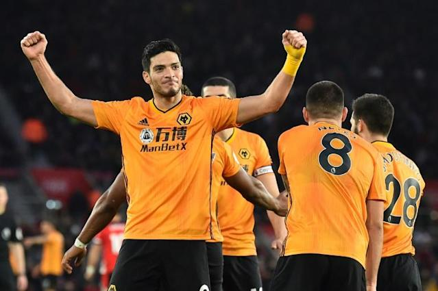 Raul Jimenez scored twice as Wolves came from 2-0 down to beat Southampton 3-2 on Saturday (AFP Photo/Glyn KIRK )