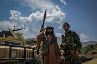 Anti-Taliban fighters have gathered in the Panjshir Valley, the last holdout against the Islamists