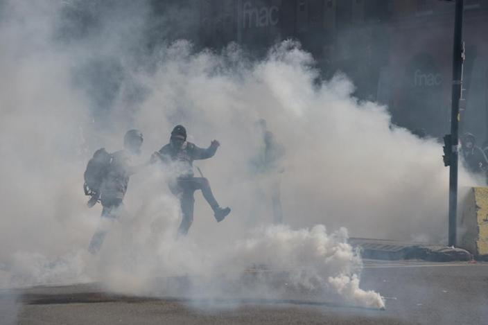 The protests have often been violent and staged every week over five months (AFP Photo/Pascal PAVANI )