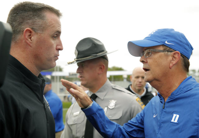 David Cutcliffe's Duke Blue Devils got the better of Pat Fitzgerald and Northwestern on Sept. 8. (AP)
