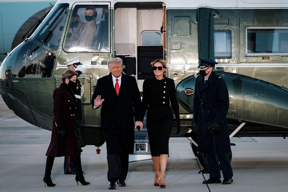 """<h1 class=""""title"""">President Trump Departs For Florida At The End Of His Presidency</h1><cite class=""""credit"""">Pool/Getty Images</cite>"""