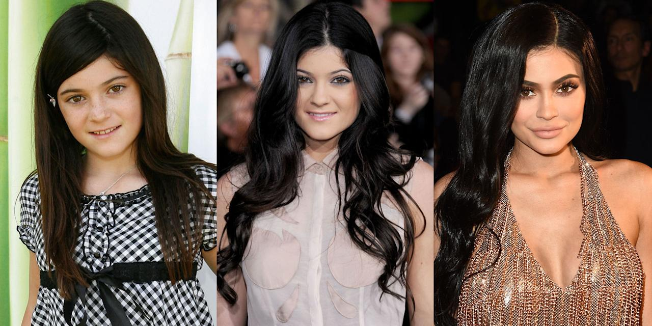 <p>Although she may be the youngest of the Kardashian/Jenner clan, the 19-year-old is definitely not afraid to make a bold statement with her ever-changing beauty look. From blunt bangs to blue extensions accompanied with plump lips, a look back at Jenner's hair and beauty transformation over the years.</p>