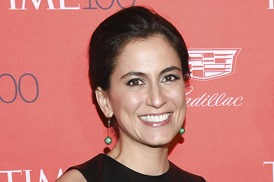 FILE - This April 26, 2016 file photo shows Manhattan district attorney candidate Tali Farhadian Weinstein at the TIME 100 Gala at Lincoln Center in New York. Farhadian Weinstein recently made waves by donating $8.2 million to her own campaign, more than all the other candidates have raised, combined. (Photo by Evan Agostini/Invision/AP)