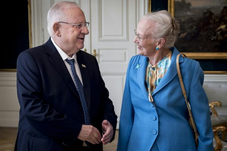 Danish Queen Margrethe and Israel's President Reuven Rivlin meet in Copenhagen to mark the 75th anniversary of the rescue of the Danish Jews