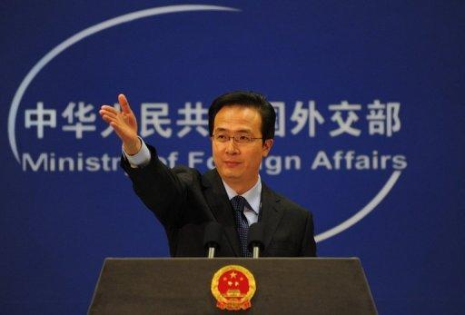 China's foreign ministry spokesman Hong Lei