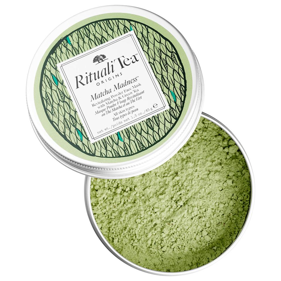 """<p>I love me some drinkable matcha. Seriously, it is delicious and the perfect treat. Naturally, I was excited at the thought of it being in powder form. If you feel like you are looking a little dull, this mask will revitalize your skin and restore an even skin tone. </p> <p>$36 