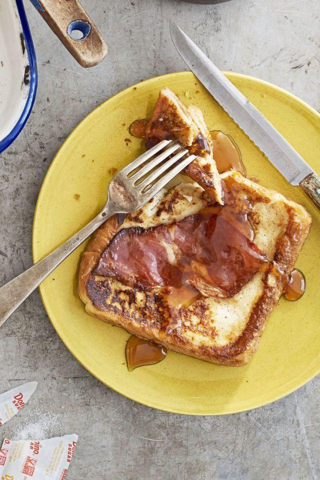 "<p>A thin slice of ham balances out the sugary-sweetness of the maple syrup. </p><p><em><a href=""http://www.countryliving.com/food-drinks/recipes/a41636/country-ham-french-toast-recipe/"" rel=""nofollow noopener"" target=""_blank"" data-ylk=""slk:Get the recipe from Country Living »"" class=""link rapid-noclick-resp"">Get the recipe from Country Living »</a></em> </p>"