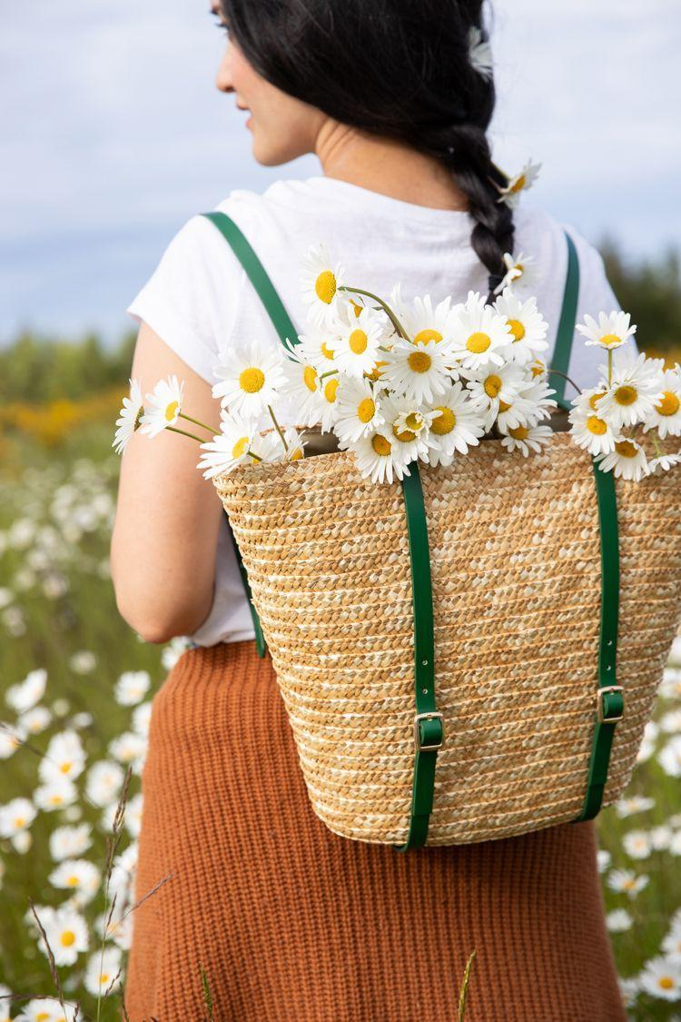"""<p>Come springtime, the <a href=""""https://www.countryliving.com/shopping/gifts/g1055/gardening-gift-ideas/"""" rel=""""nofollow noopener"""" target=""""_blank"""" data-ylk=""""slk:gardener on your list"""" class=""""link rapid-noclick-resp"""">gardener on your list</a> will love filling this stylish, no-sew pack with pretty flowers.</p><p><strong>Get the tutorial at <a href=""""https://www.deliacreates.com/basket-backpack-tutorial-video/"""" rel=""""nofollow noopener"""" target=""""_blank"""" data-ylk=""""slk:Delia Creates"""" class=""""link rapid-noclick-resp"""">Delia Creates</a>.</strong></p><p><strong><a class=""""link rapid-noclick-resp"""" href=""""https://www.amazon.com/slp/straw-tote-bags/q96fdj9apmth59o?tag=syn-yahoo-20&ascsubtag=%5Bartid%7C10050.g.645%5Bsrc%7Cyahoo-us"""" rel=""""nofollow noopener"""" target=""""_blank"""" data-ylk=""""slk:SHOP STRAW TOTES"""">SHOP STRAW TOTES</a><br></strong></p>"""