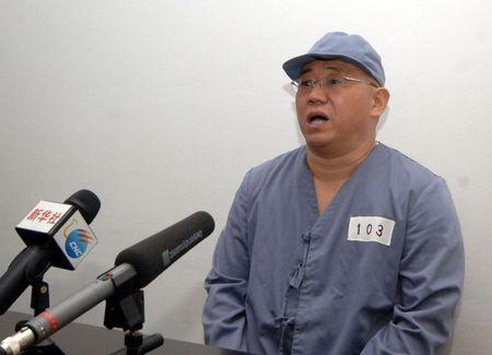 U.S. missionary Bae appears before a limited number of media outlets in Pyongyang