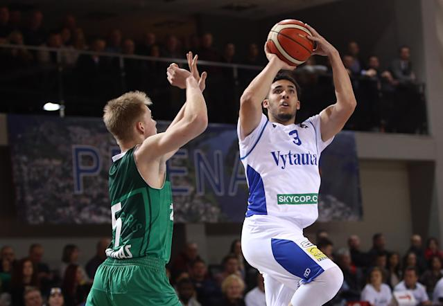 LiAngelo Ball shot 41.5 percent from 3-point range for Vytautas Prienu. (Getty)