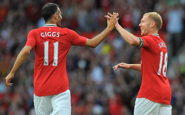 "Ryan Giggs and Paul Scholes were part of Manchester United's ""Class of 92"" (AFP Photo/ANDREW YATES)"