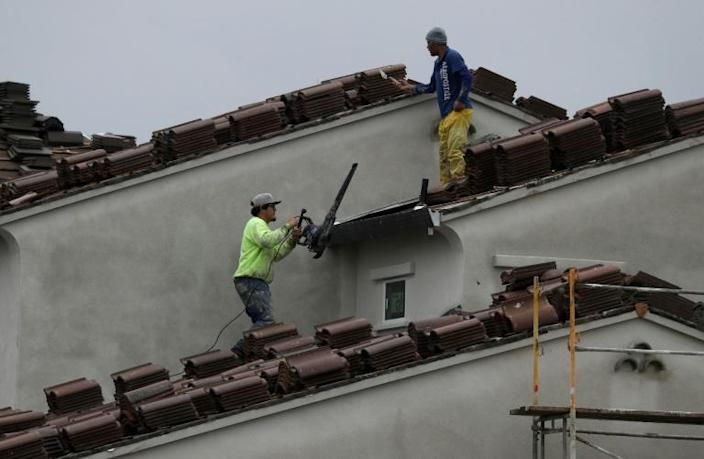 The US housing sector suffered contruction declines nationwide amid the pandemic (AFP Photo/JUSTIN SULLIVAN)