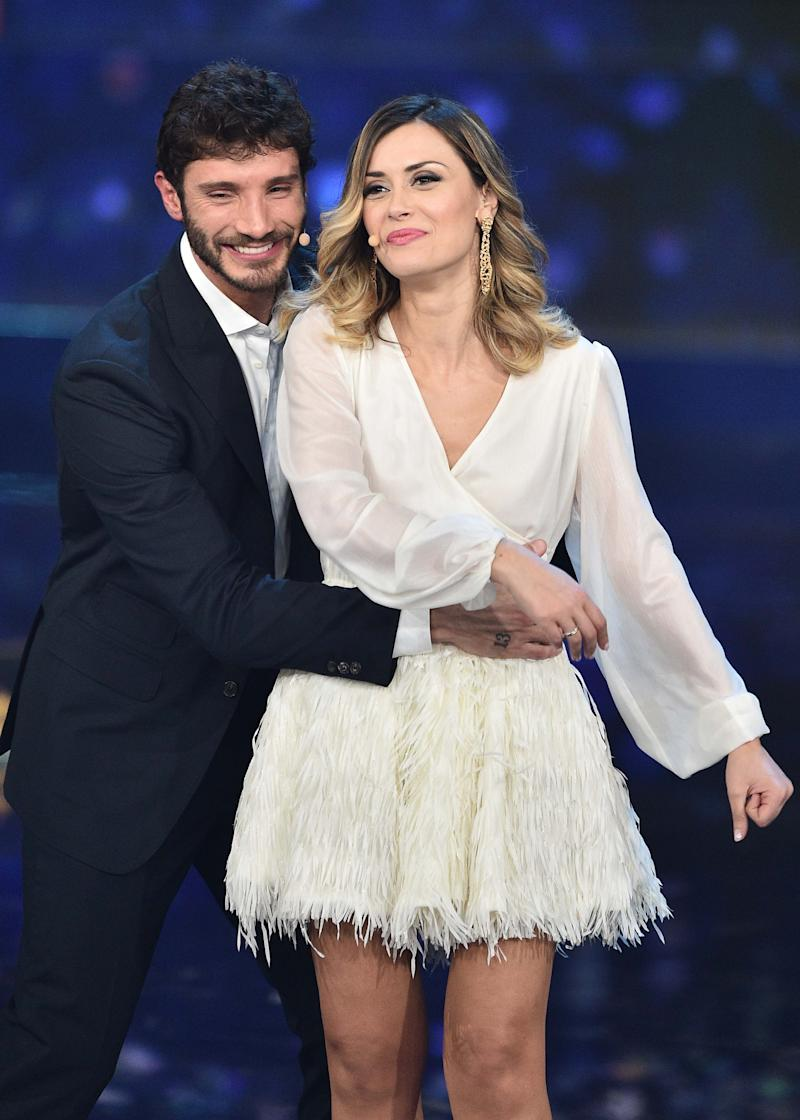 NAPLES, ITALY - MARCH 04: Fatima Trotta , Stefano De Martino attends the Made In Sud TV Show on March 4, 2019 in Naples, Italy. (Photo by Ciro Sarpa/Getty Images)