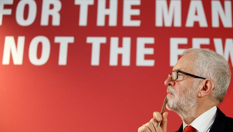 FILE PHOTO: Jeremy Corbyn campaigns ahead of the general election in Telford