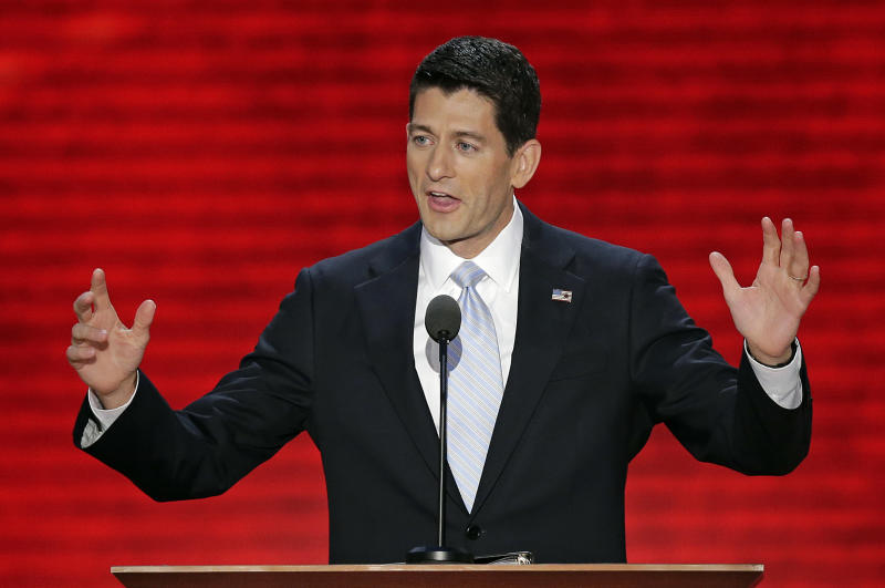 In this Aug. 29, 2012, photo, Republican vice presidential nominee, Rep. Paul Ryan addresses the Republican National Convention in Tampa, Fla. It was Mitt Romney's show. But New Jersey Gov. Chris Christie rocked the house. Florida Sen. Marco Rubio was the talk of the town. And Wisconsin Rep. Paul Ryan's rising-star status was blinding as he accepted the party's vice presidential nomination. The Republican Party's next generation of leaders were in deep supply at the GOP's national convention as they positioned for future national roles and, perhaps, even their own shot at the White House in four or eight years. (AP Photo/J. Scott Applewhite)