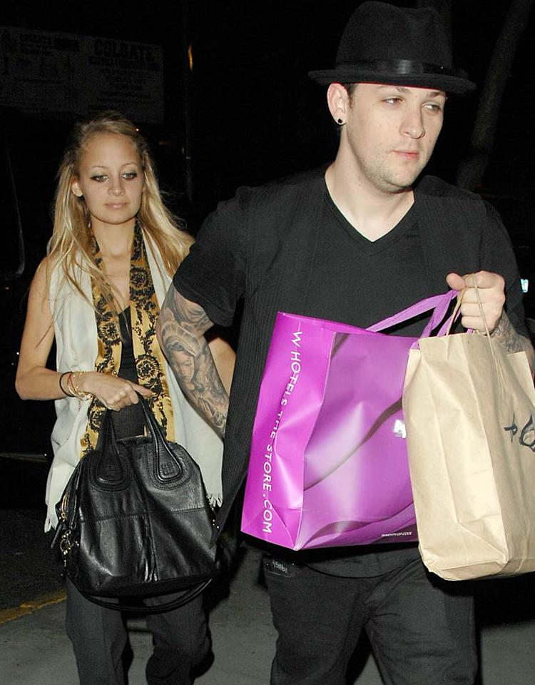 "Joel Madden reportedly popped the question to Nicole Richie on Thursday, after hinting earlier in the week that he would propose. The reality star and the Good Charlotte frontman are expecting their first child together. Ronald Asadorian/<a href=""http://www.splashnewsonline.com/"" target=""new"">Splash News</a> - August 15, 2007"