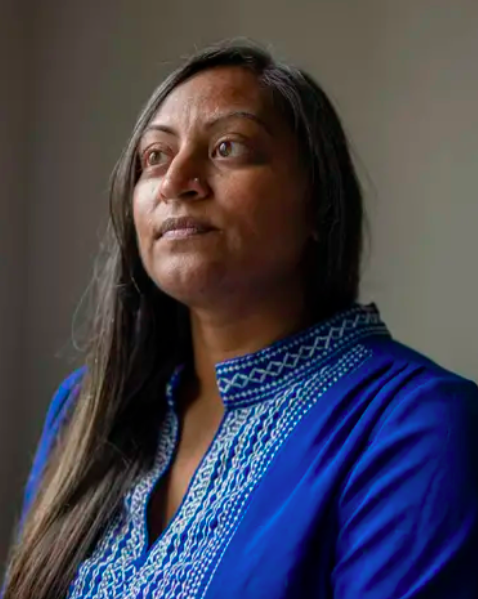 """Tania Tasneem, an eighth grade science teacher at Kealing Middle School in Austin, says the prospect of legal action is """"the scariest part"""" of the law. (Sophie Park/The Texas Tribune)"""