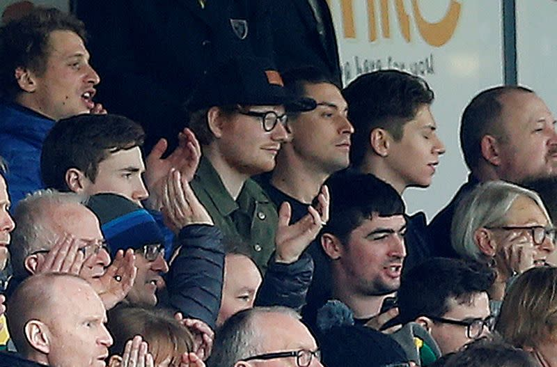FILE PHOTO: Ed Sheeran in the stands