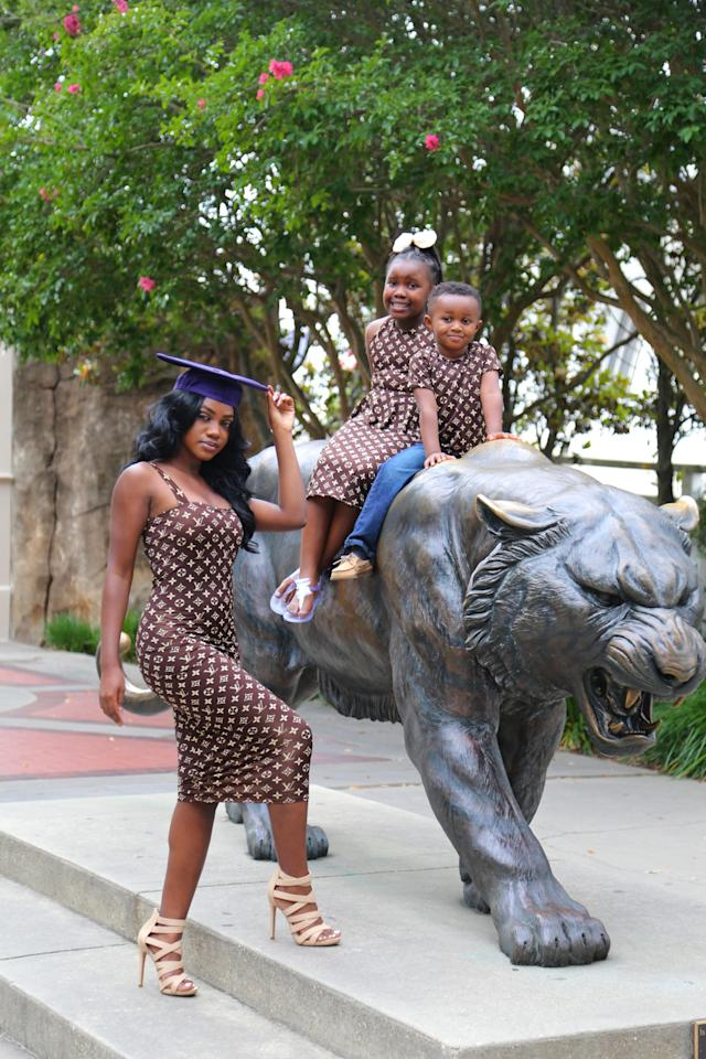 Ronlonda Robinson celebrated her college graduation with an amazing photo shoot. (Photo: Patrick Griffin)