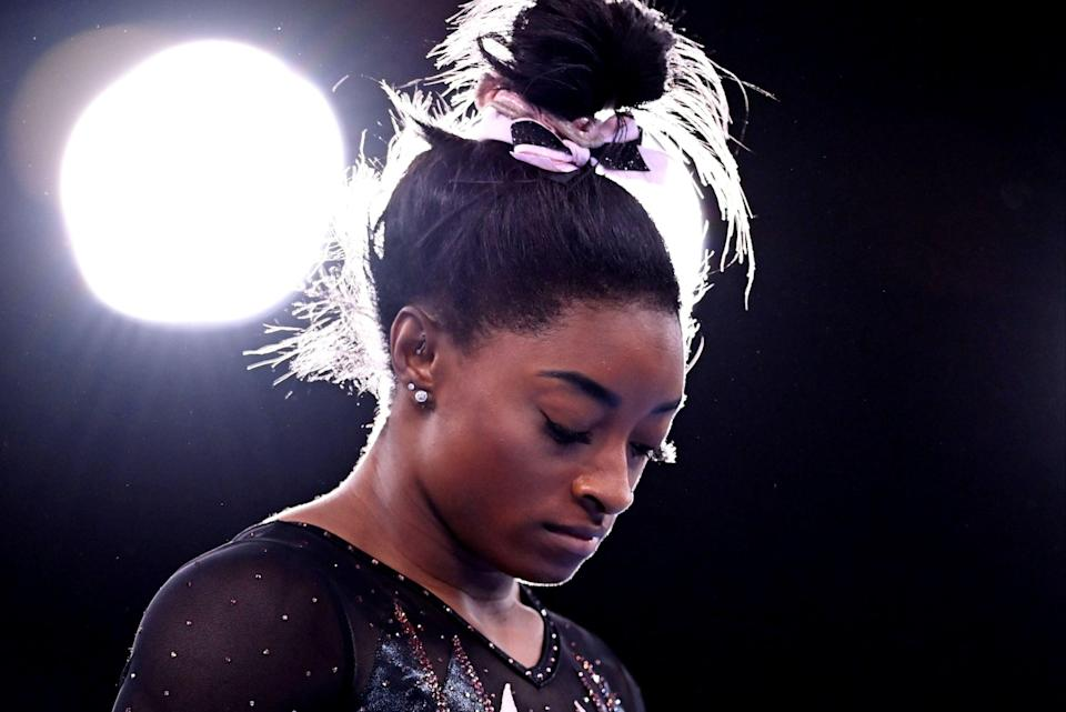 Simone Biles has pulled out of Olympics all-around gymnastics final to focus on mental health (REUTERS)