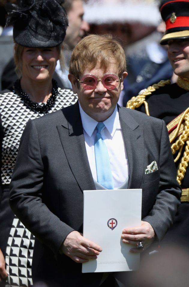 Sir Elton was a guest at Harry and Meghan's wedding in 2018.