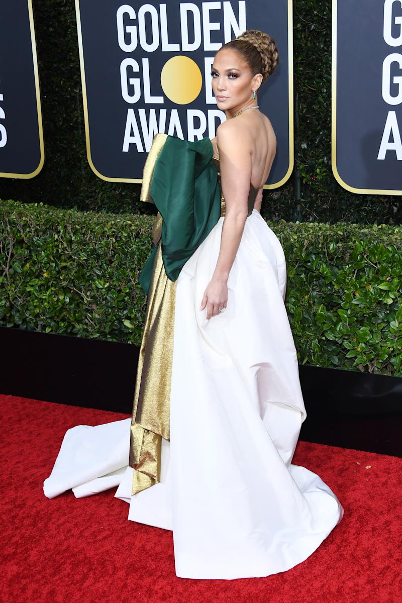 BEVERLY HILLS, CALIFORNIA - JANUARY 05: Jennifer Lopez attends the 77th Annual Golden Globe Awards at The Beverly Hilton Hotel on January 05, 2020 in Beverly Hills, California. (Photo by Daniele Venturelli/WireImage)
