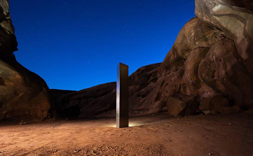 <p>Earlier, a monolith was spotted in the deserts of Utah, and then a second cropped up in Romania</p> (AP)