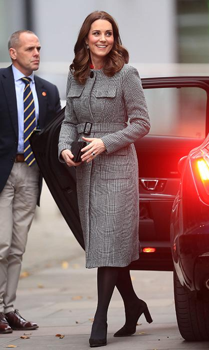 Duchess Kate just stepped out of the vehicle