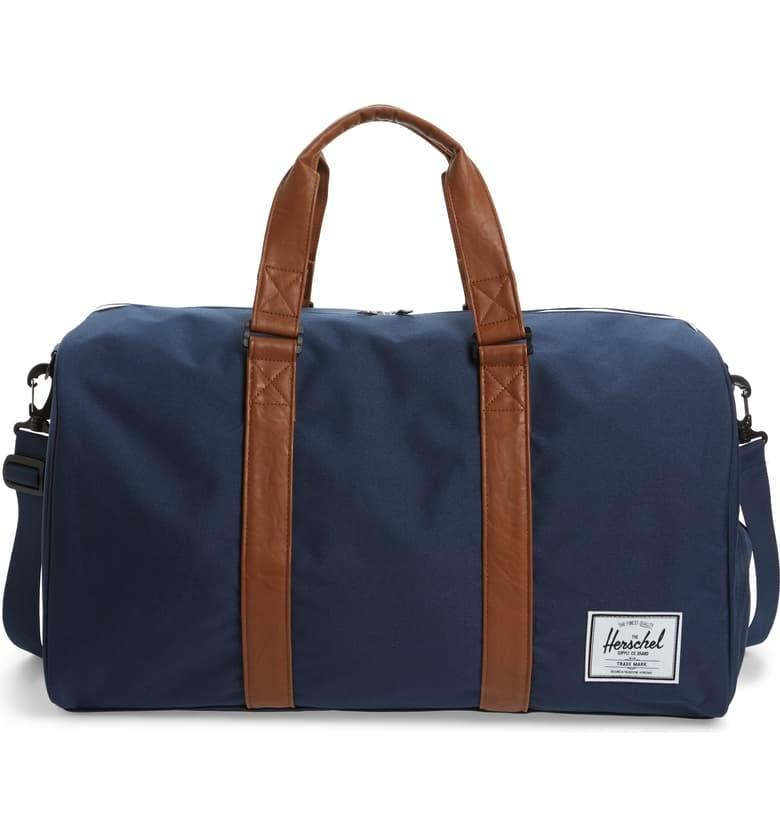 """<p>Make his next trek to see you a fashionable one with a cool <a href=""""https://www.popsugar.com/buy/Herschel-Supply-Co-duffel-bag-284150?p_name=Herschel%20Supply%20Co.%20duffel%20bag&retailer=shop.nordstrom.com&pid=284150&price=85&evar1=savvy%3Aus&evar9=45267830&evar98=https%3A%2F%2Fwww.popsugar.com%2Fsmart-living%2Fphoto-gallery%2F45267830%2Fimage%2F46712658%2FWeekender-Bag-to-Come-Visit-You-in-Style&list1=shopping%2Choliday%2Cgift%20guide&prop13=mobile&pdata=1"""" rel=""""nofollow"""" data-shoppable-link=""""1"""" target=""""_blank"""" class=""""ga-track"""" data-ga-category=""""Related"""" data-ga-label=""""https://shop.nordstrom.com/S/3294376"""" data-ga-action=""""In-Line Links"""">Herschel Supply Co. duffel bag</a> ($85). It even comes complete with a shoe compartment to keep his garments fresh. </p>"""