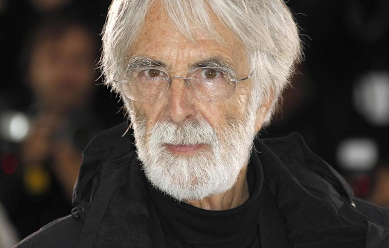 Director Michael Haneke poses during a photo call for Love at the 65th international film festival, in Cannes, southern France, Sunday, May 20, 2012. (AP Photo/Joel Ryan)
