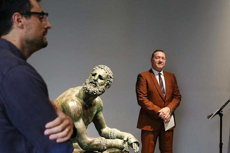 "ROME, ITALY - AUGUST 02: Actor Kevin Spacey attends the reading of the event ""The Boxer - La nostalgia del poeta"" (The Boxer - The nostalgia of the poet) at Palazzo Massimo alle Terme on August 02, 2019 in Rome, Italy. (Photo by Ernesto Ruscio/Getty Images)"