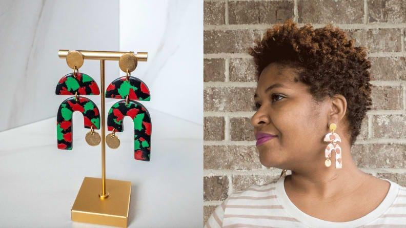 These popular earrings come in Juneteenth colors.