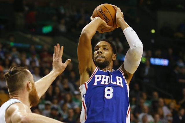 "The 76ers were unable to trade <a class=""link rapid-noclick-resp"" href=""/nba/players/5434/"" data-ylk=""slk:Jahlil Okafor"">Jahlil Okafor</a>, who has only appeared in one game this season."