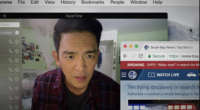 <p>A double award winner at this year's Sundance Film Festival, <em>Searching </em>gives John Cho a too-rare leading role as a father desperately searching for his missing daughter through some intensive computer research. The entire film takes place on a computer screen, with Cho navigating all avenues of the World Wide Web — from social media sites to surveillance cameras — to crack the case. (Screen Gems) </p>