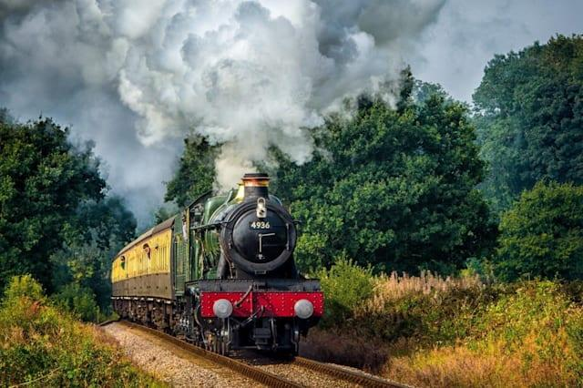 A train on the West Somerset Steam Railway