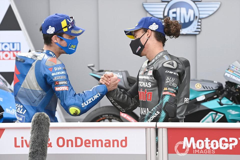 "Franco Morbidelli, Petronas Yamaha SRT, Joan Mir, Team Suzuki MotoGP<span class=""copyright"">Gold and Goose / Motorsport Images</span>"