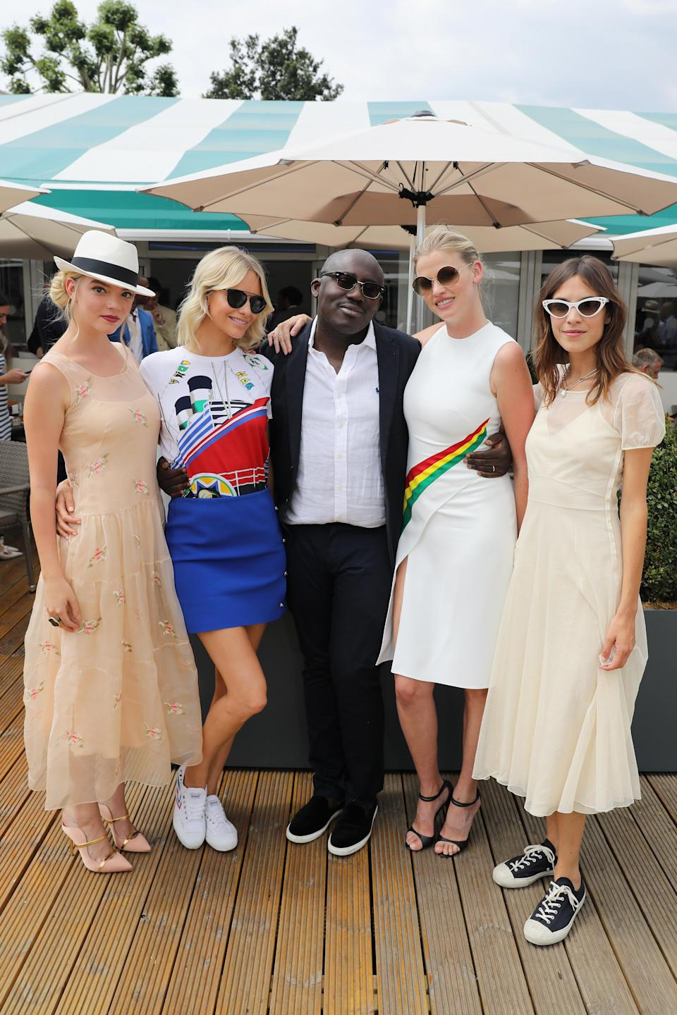 <p>For the Polo Ralph Lauren and British Vogue event at Wimbledon on 9 July, the fash pack donned their finest clobber. Editor-in-chief Edward Enninful was joined by Anya Taylor-Joy, Poppy Delevingne, Edward Enninful, Lara Stone and Alexa Chung at the tournament. <em>[Photo: Getty]</em> </p>