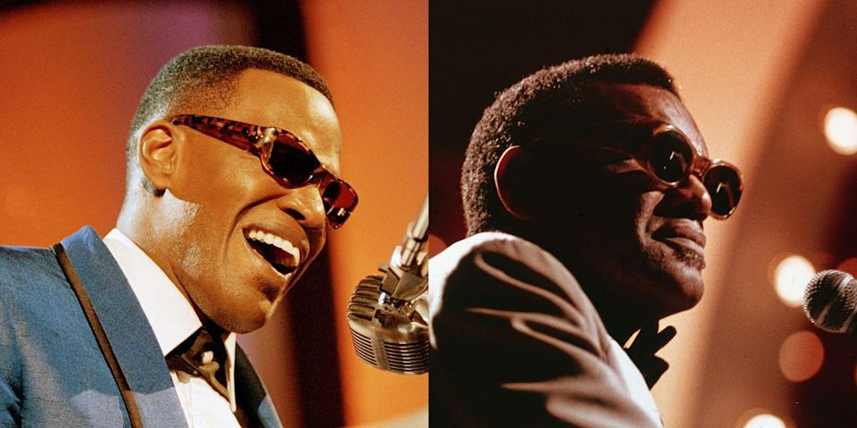 <p>Foxx played iconic musician Ray Charles in the 2004 film <em>Ray. </em>Foxx won a Best Actor Oscar for his performance. <br></p>