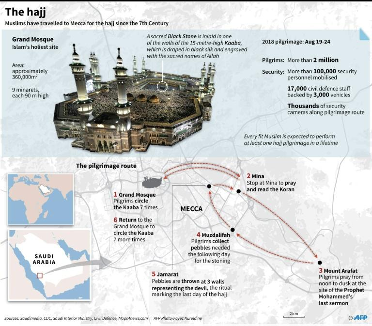 Graphic on the annual hajj