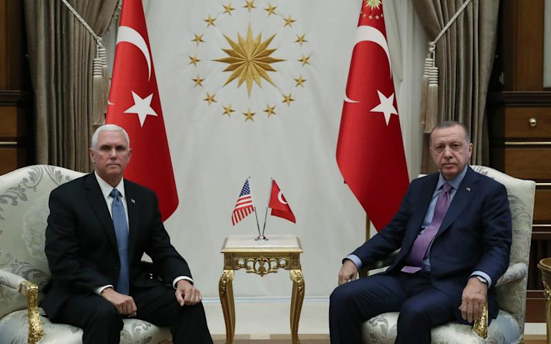 Mike Pence led the US delegation to Turkey - Anadolu