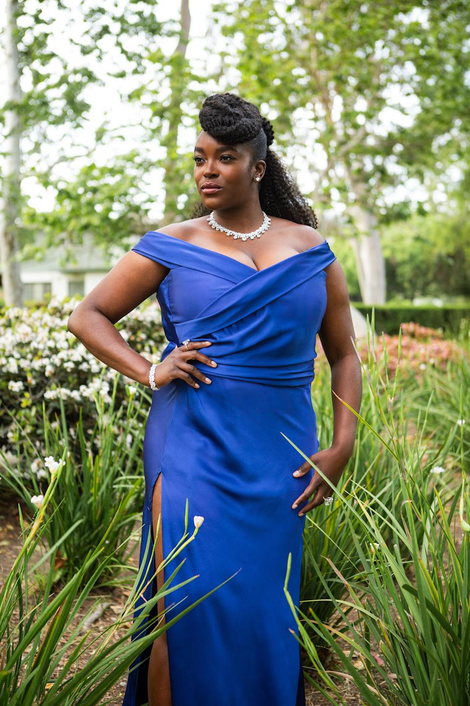 LOS ANGELES, CALIFORNIA - APRIL 11: Actress Wunmi Mosaku nominated for best actress in a leading role for
