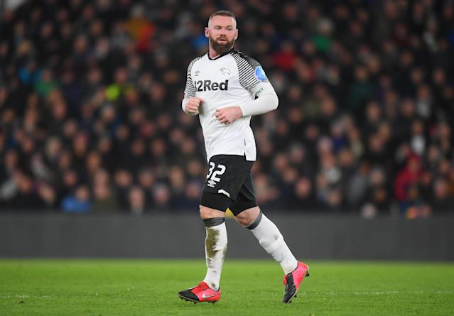 Wayne Rooney of Derby County. (Photo by Michael Regan/Getty Images)