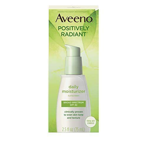 """<p><strong>Aveeno</strong></p><p>amazon.com</p><p><strong>$22.54</strong></p><p><a href=""""https://www.amazon.com/dp/B0013OKSAY?tag=syn-yahoo-20&ascsubtag=%5Bartid%7C10072.g.29529033%5Bsrc%7Cyahoo-us"""" rel=""""nofollow noopener"""" target=""""_blank"""" data-ylk=""""slk:SHOP NOW"""" class=""""link rapid-noclick-resp"""">SHOP NOW</a></p><p>""""I love this one because it contains both soy, which actively turns down the production of melanin by the skin's melanocytes, and SPF, which is key for fading any dark spots, whether caused by post-inflammatory hyperpigmentation from acne or a skin injury, or just by chronic sun damage,"""" says Dr. Jessica Krant of <a href=""""https://www.laserskinsurgery.com/Dermatologists/Jessica-J-Krant-MD-MPH"""" rel=""""nofollow noopener"""" target=""""_blank"""" data-ylk=""""slk:Laser & Skin Surgery Center of New York"""" class=""""link rapid-noclick-resp"""">Laser & Skin Surgery Center of New York</a>. """"Plus, it's well tolerated and helps to brighten the complexion overall.""""</p>"""